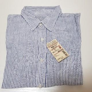 ムジルシリョウヒン(MUJI (無印良品))のフレンチリネン洗いざらしストライプ 半袖シャツ メンズS(シャツ)