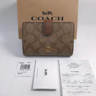 コーチ(COACH)の新品!COACH レザー 折り財布 Saddle/CW(財布)