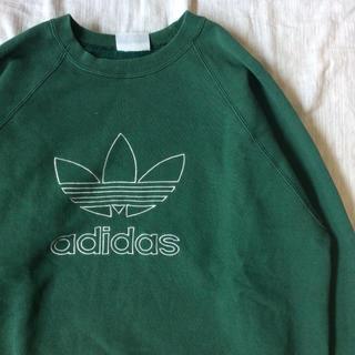 アディダス(adidas)の【大人気】 古着 90s adidas 刺繍 ロゴ スウェット ビッグサイズ(スウェット)