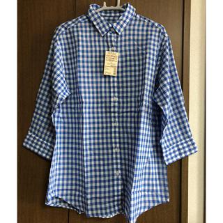 MUJI (無印良品) - 無印良品 オーガニックコットン 強撚ガーゼ チェック七分袖シャツ