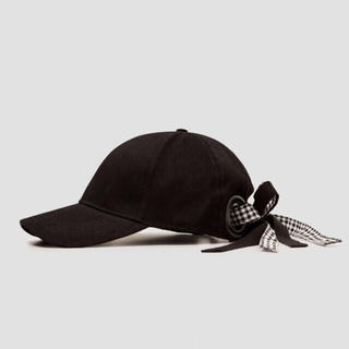 ザラ(ZARA)のZARA リボン付き キャップ 帽子(キャップ)