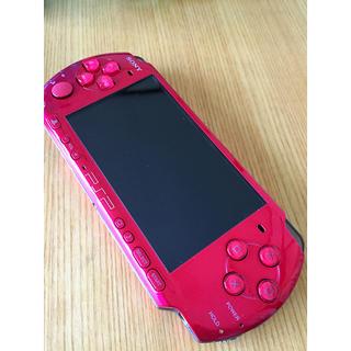 プレイステーションポータブル(PlayStation Portable)のPSP 3000 ラディアント・レッド(携帯用ゲーム本体)