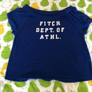 アバクロンビーアンドフィッチ(Abercrombie&Fitch)のアバクロ☆ショート丈トップス☆ブルー☆XS(Tシャツ(半袖/袖なし))