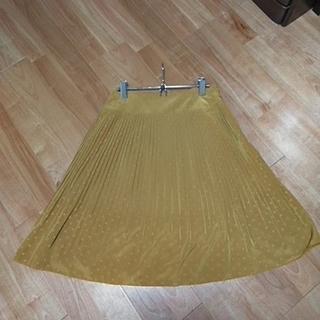 アンナルナ(ANNA LUNA)のアンナルナ マスタード色 水玉プリーツスカート サイズM(ひざ丈スカート)