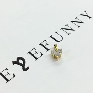 アイファニー(EYEFUNNY)のアイファニー スモールハート ペントップ K18×ダイヤモンド(ネックレス)