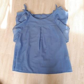 リミットレスラグジュアリー(LIMITLESS LUXURY)のノースリーブブラウス ライトブルー(シャツ/ブラウス(半袖/袖なし))