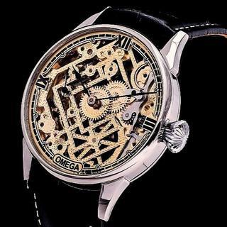 オメガ(OMEGA)のオメガのメンズ アンティークスケルトン   限定 スピードマスター シーマスター(腕時計(アナログ))