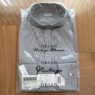オリアン(ORIAN)の【未使用・タグ付き】 ORIAN ストライプ スキッパーシャツ(シャツ/ブラウス(長袖/七分))