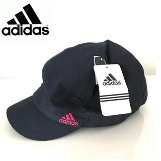アディダス(adidas)の新品★adidas 夏素材 ネイビー キャスケット 帽子 キャップ(キャスケット)