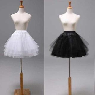 ミニパニエ 3リム 花嫁 ウェディングドレス フリルいっぱい ブラック(その他)