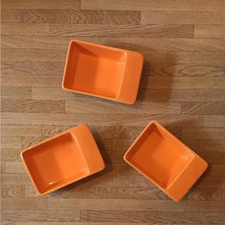 アクタス(ACTUS)のTHE CONRAN SHOP フランス製 角皿 3個セット レア(食器)
