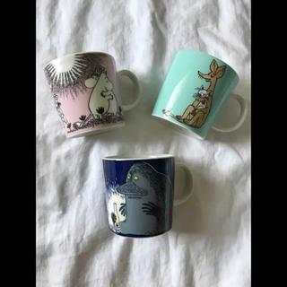 アラビア(ARABIA)の旧ロゴ アラビア ムーミン マグカップ 3点セット(食器)