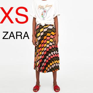 ザラ(ZARA)の新品 ZARA スカート プリーツスカート(ひざ丈スカート)