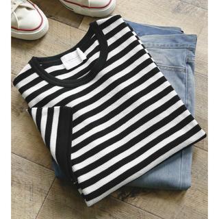 ドアーズ(DOORS / URBAN RESEARCH)のURBAN RESEARCH<新品>テネシーコットンワッフルボーダーTシャツ(Tシャツ/カットソー(半袖/袖なし))