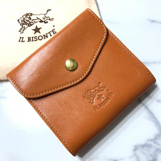 1019c0c20686 IL BISONTE(イルビゾンテ)の新品 イルビゾンテ 財布 ヤキヌメ 二つ折り財布 ブランド Wホック
