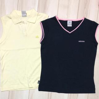 アディダス(adidas)のadidas アディダス ノースリーブ ポロシャツ タンクトップ セット 未使用(タンクトップ)