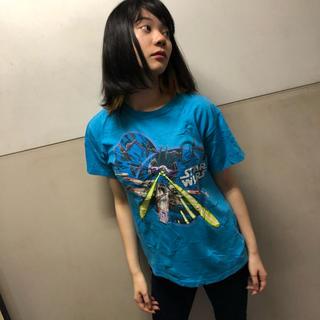 ディズニー(Disney)のスターウォーズ  Tシャツ  ブルー  ♢12(Tシャツ/カットソー(半袖/袖なし))