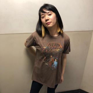 ディズニー(Disney)のスターウォーズ  ブラウン  Tシャツ  L   ♢21(Tシャツ/カットソー(半袖/袖なし))