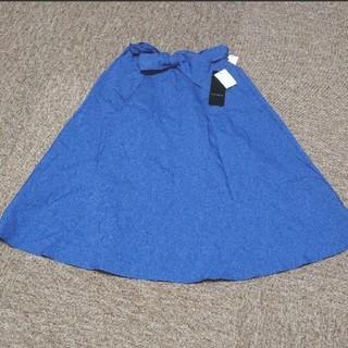 シマムラ(しまむら)のリボン スカート フレアスカート デニム(ひざ丈スカート)