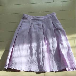 ザラ(ZARA)のZARA リネン スカート (ひざ丈スカート)