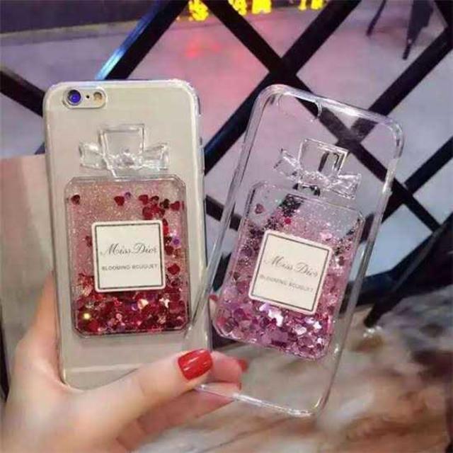送料無料!大人気!iPhone5/5s/SE用!香水瓶ケース!ブルーの通販