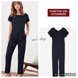 コントワーデコトニエ(Comptoir des cotonniers)の【美品】2018SS ウォッシャブルスマートジャンプスーツ(オールインワン)