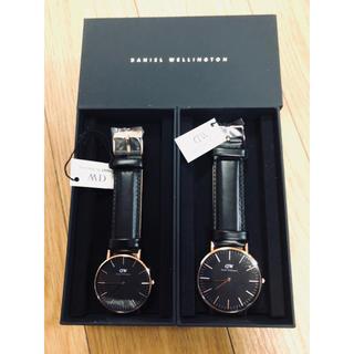 ダニエルウェリントン(Daniel Wellington)の新品未使用 ダニエルウェリントン 腕時計 36&40mm ペアウォッチ ゴールド(腕時計(アナログ))