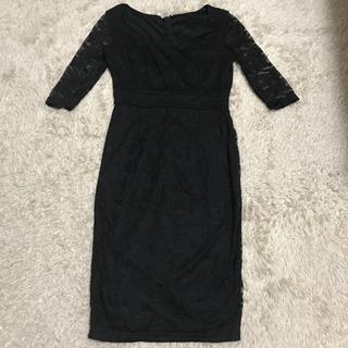 デイジーストア(dazzy store)の黒レースタイトワンピース(ミディアムドレス)