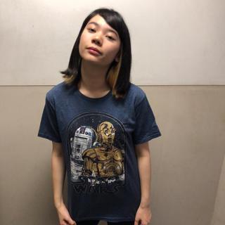 ディズニー(Disney)のオールドネイビー     スターウォーズ  Tシャツ S  ネイビー   ♢30(Tシャツ/カットソー(半袖/袖なし))