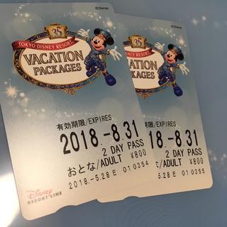 ディズニー(Disney)のディズニーリゾートライン 2day 乗り放題切符(鉄道乗車券)