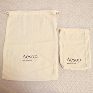 イソップ(Aesop)の【未使用】Aesop ショップ袋 巾着袋 ショッパー(ショップ袋)