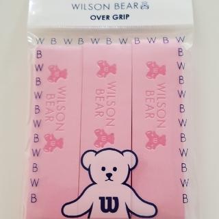 ウィルソン(wilson)のウイルソンベア テニスグリップテープピンク3枚入1個(ラケット)