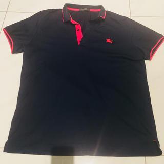 バーバリーブラックレーベル(BURBERRY BLACK LABEL)のバーバリーブラックレーベル ポロシャツ 紺×ピンク(ポロシャツ)