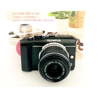 オリンパス(OLYMPUS)の❤️初めてのカメラにおすすめ!超かわいい❤️オリンパス E-PL1s ブラック(ミラーレス一眼)