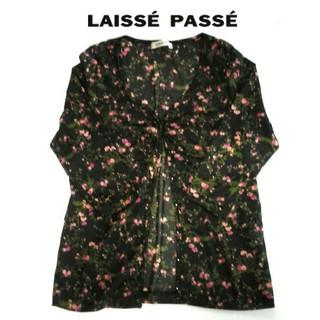 レッセパッセ(LAISSE PASSE)のLAISSE PASSE レッセパッセ 花柄 カーディガン カットソー(カットソー(長袖/七分))