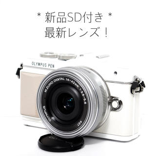 オリンパス(OLYMPUS)の☆Wi-Fi機能搭載&自撮りもラクラク☆新品SD付き♩オリンパス E-PL7(ミラーレス一眼)