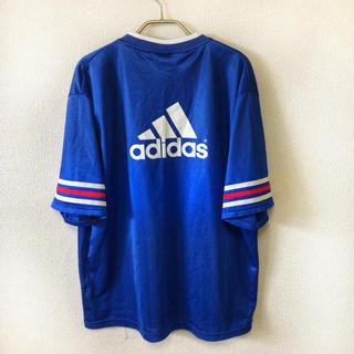 アディダス(adidas)の90s adidas フットボールシャツ メンズ XL 万国旗 シャツ 古着(Tシャツ/カットソー(半袖/袖なし))