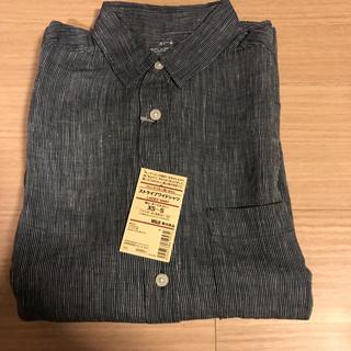 ムジルシリョウヒン(MUJI (無印良品))の無印良品 ストライプ 麻 シャツ 新品(シャツ/ブラウス(長袖/七分))