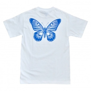 girls don't cry BUTTERFLY PRINT TEE -