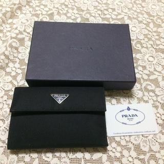 プラダ(PRADA)の超美品プラダ/人気のブラック三つ折り財布(折り財布)