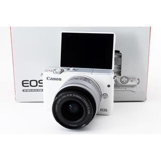 キヤノン(Canon)の☆自撮り写真をその場でスマホに転送☆キャノン EOS M10 ホワイト(ミラーレス一眼)