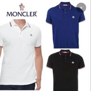 MONCLER - 新品◆メンズ◆MONCLER ◆コットン鹿の子ポロシャツ ブルー S