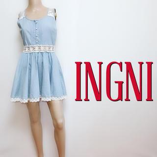 イング(INGNI)の可愛すぎ♪イング デザインレース フレアワンピース♡ダズリン マーキュリーデュオ(ミニワンピース)