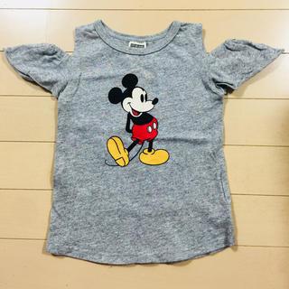 エフオーキッズ(F.O.KIDS)のkids 肩出しミッキーTシャツ100(Tシャツ/カットソー)