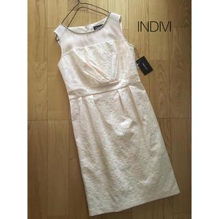 インディヴィ(INDIVI)の新品 INDIVI*ジャガードドレス フォーマル 結婚式(ミディアムドレス)