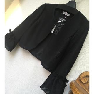 ギャラリービスコンティ(GALLERY VISCONTI)の新品 ビスコンティ♡クリスタルボタン付カラミレースボレロ M 黒(ボレロ)