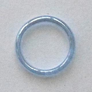 リング・プラスティック・ブルー・艶キラ(リング(指輪))