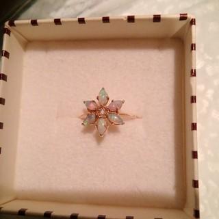 アガット(agete)のca様専用クロチェ オパール ダイヤモンド お花 リング アガットお好きな方も(リング(指輪))