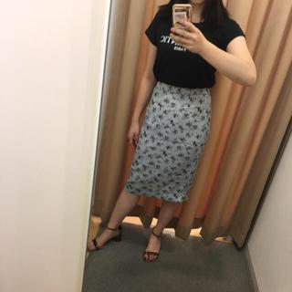 ロキエ(Lochie)の花柄ペンシルスカート vintage(ひざ丈スカート)