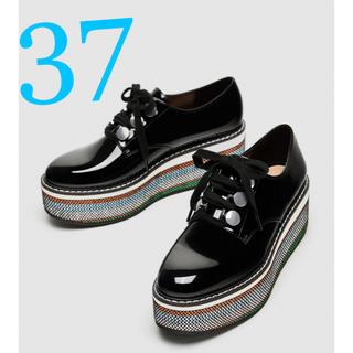 ザラ(ZARA)の*2018SS*ZARA プラットフォーム ダービーシューズ(ローファー/革靴)